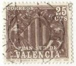 Sellos del Mundo : Europa : España : Plan Sur de Valencia. 10.- Escudo de Valencia.