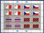Sellos del Mundo : America : ONU : HB Banderas  b-4