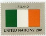 Stamps America - ONU -  Bandera -Irlanda