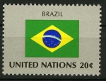 Sellos del Mundo : America : ONU : Bandera - Brasil