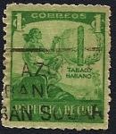 Stamps of the world : Cuba :  República de Cuba - Tabaco Habano - indio fumando