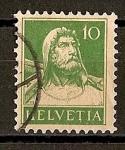 Stamps Switzerland -  Busto de Guillermo Tell.