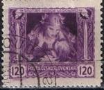 Stamps Czechoslovakia -  Scott  B129  Madre y el niño