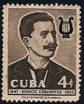 Sellos de America - Cuba -  Ignacio Cervantes Kawanagh - pianista compositor
