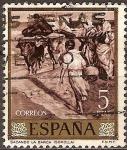 Sellos del Mundo : Europa : España : Sacando la barca (Sorolla)