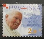 Stamps Europe - Croatia -  TERCER VIAJE DE JUAN PABLO II A CROACIA