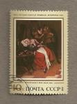 Stamps Russia -  Pintura por Jan Steen