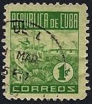 Stamps Cuba -  República de Cuba - recolección de tabaco