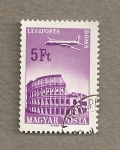 Stamps Hungary -  Sobrevolando Roma