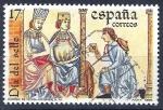 Sellos del Mundo : Europa : España :  2857 Correo de los Ricos Hombres, Cantigas de Alfonso X el sabio.(2)