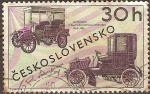 Sellos del Mundo : Europa : Checoslovaquia : Automobil Baldachynovou y Ctyrsedadlove Coupe 1900-1905