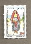 Stamps Tunisia -  Takhila vestido femenino de Sousse
