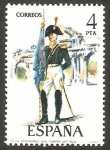 Sellos de Europa - España -  2280 - Uniforme Militar, Abanderado del Real Cuerpo de Artilleria 1803
