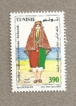 Stamps Tunisia -  Tarf Ras, vestido de ceremonias