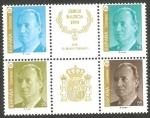 Stamps Spain -  3305 A - 3306 A - 3397 A - 3308 A - Juan Carlos I
