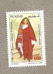 Stamps Africa - Tunisia -  Vestido tradicional de Matmata