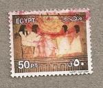 Sellos del Mundo : Africa : Egipto : Damas antiguo Egipto