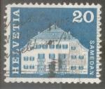 Stamps : Europe : Switzerland :   SUIZA_SCOTT 443 PLANTA HOUSE, SAMEDAN. $0.2
