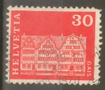 Stamps : Europe : Switzerland :  SUIZA_SCOTT 444 GABLED HOUSES, GAIS. $0.2