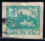 Stamps Czechoslovakia -  Scott  4  Hradcany en Praga