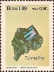 Stamps Brazil -  Gemas Brasileras - Turmalina