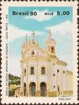 Sellos de America - Brasil -  Arquitectura Religiosa Brasilera: Iglesia de Nuestra Señora del Rosario, Ouro Preto-MG
