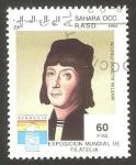 Stamps : Africa : Morocco :  Martín Alonso Pinzón, navegante
