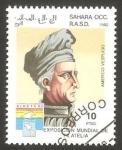 Stamps : Africa : Morocco :  Sahara - Americo Vespucio