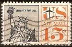 Sellos de America - Estados Unidos -  USAirmail-Estatua de la Libertad