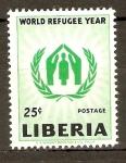 Stamps Liberia -  AÑO  MUNDIAL  DE  LOS  REFUGIADOS