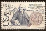 Sellos del Mundo : America : Estados_Unidos : Bicentenario del tratado de amist.y comerc.EE:UU y Suecia 1783(B.FRanklin)