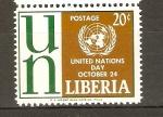 Stamps Liberia -  DÌA  DE  LAS  NACIONES  UNIDAS