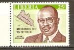 Stamps Liberia -  PRESIDENTE  TOLBERT  Y  MAPA  DE  LIBERIA