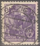 Stamps : Europe : Germany :  DDR_SCOTT 157 TRABAJADORES ALEMAN Y SOVIETICO