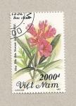 Sellos de Asia - Vietnam -  Flor Nerium indicum