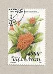 Stamps Vietnam -  Flor Ixora coccinea