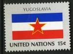 Sellos del Mundo : America : ONU : Bandera Yugoslavia