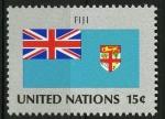 Sellos del Mundo : America : ONU : Bandera, Fiji