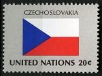 Sellos del Mundo : America : ONU : Bandera, Checoslovaquia