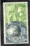 Sellos de Europa - España -  1596- DIA MUNDIAL DEL SELLO 1964