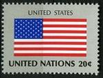 Sellos del Mundo : America : ONU : Bandera Estados Unidos