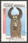 Sellos de Africa - Guinea Bissau -  295 D - arte africano, máscara