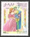 Stamps : Africa : Morocco :  centº de la muerte de José Zorrilla, Nápoles