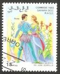 Stamps : Africa : Morocco :  centº de la muerte de José Zorrilla, Roma