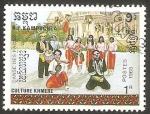 Sellos del Mundo : Asia : Camboya : 807 - cultura Khmere, danza Paons