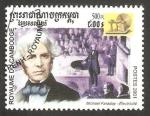 Sellos del Mundo : Asia : Camboya : 1790 - Michael Faraday, inventor de la electricidad