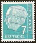 sellos de Europa - Alemania -  DEUTSCHE BUNDESPOST - THEODOR HEUSS