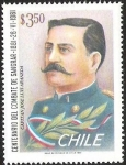 Stamps of the world : Chile :  CENTENARIO DEL COMBATE DE SANGRAR - CAPITAN JOSE LUIS ARANEDA