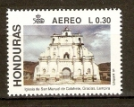 Stamps of the world : Honduras :  IGLESIA  DE  SAN  MANUEL  COLOHETE