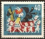 Sellos de Europa - Alemania -  Wohlfahrtsmarke  (sello benéfico-el lobo y los siete cabritillos).